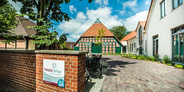 Einfahrt zum Hospiz Sirius Bremen